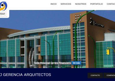 Website A+J Gerencia Arquitectos